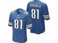 c3d71a7070f NFL Detroit Lions Nike NFL Game Team Jersey Calvin Johnson JR- Battle Blue