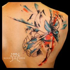 manoo stich tattoos, berlin www.stichpiraten.de #butterfly #watercolourtattoo