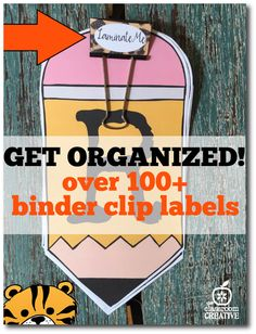 Binder Clip Labels a