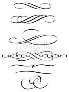 calligraphic scrolls Royalty Free Stock Vector Art Illustration