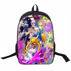 Adventure Time Backpack For Teenager Anime Monster High Backpacks Kids Schoolbags Boys Girls School Bags Daily Backpack Book Bag