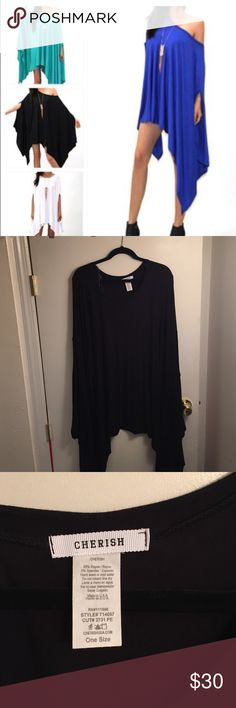 Black Flowy Tunic or Dress Off the shoulder loose fitting, featured on princessarmor, on size but can fit a large/ XL never worn very comfy Tops Tunics