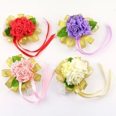 Romantic Bridal Flower Wrist Wedding Bridesmaid Wrist Corsages Artificial Silk Rose Wedding Maid Honor Bouquet Cheap 2015 LH from Engerlaa,$1.77 | DHgate.com