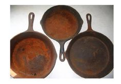 Is your cast iron rusty? Julie has a couple of tips on how to fix that  http://www.momspantrykitchen.com/removing-rust-from-your-cast-iron-cookware.html
