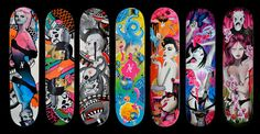 my first skateboard only not painted wood....my teen crush had one so naturally i had to get one...:)