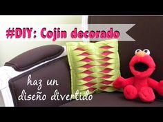 DIY: Como hacer un cojín decorado bicolor con diseño original - YouTube