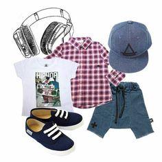 BOYS LOOK !!! Shirts by Little Eleven Paris - Cap by Little Eleven Paris - Shorts by NuNuNu
