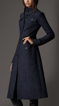 Bow Detail Wool Coat | Burberry