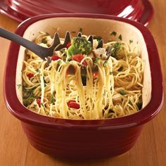 Summertime Spaghetti  - The Pampered Chef® #DeepCoveredBaker