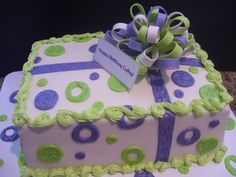 purple and lavender cakes | Purple and Lime Green Birthday Cake - CakeItYourWay