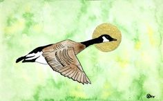Buy Canadian Mother Goose, Watercolor by Roks on Artfinder. Discover thousands of other original paintings, prints, sculptures and photography from independent artists.