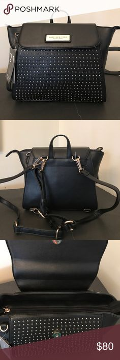 🆕Andrew Marc Backpack New Andrew Marc black bag with gold hardware. 2 in 1 backpack or tote. Brings extra straps and I guess it could also be used as a cross body. Fits Tablets, very spacious! Andrew Marc Bags