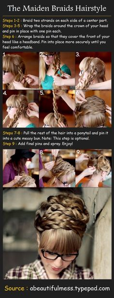 The Maiden Braids Hairstyle, wish my hair was still long so I could try this.....
