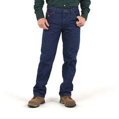 Wrangler Men's FR Flame Resistant Regular Fit Lightweight Denim Jeans (Size: