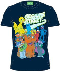 "Sesame Street ""Group Swoosh"" T-shirt (Youth Medium, Navy Blue)  http://www.beststreetstyle.com/sesame-street-group-swoosh-t-shirt-youth-medium-navy-blue/"