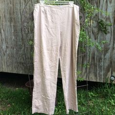 Chico's Pants No pockets and zips on the side.  Waist is 16 1/2 in. Chico's Pants