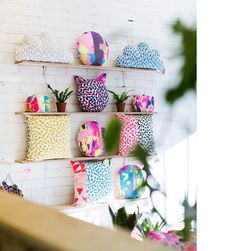 Cushions and bags in Harvest's new retail space – Harvest Storeroom. Photo -Sean Fennessy.