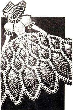 Crochet Pattern Vintage PINEAPPLE SUNBONNET GIRL Chair Back Set Reprint. Found this on eBay.