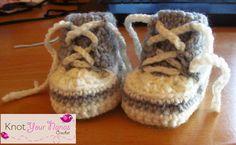 Free Crochet Pattern for Newborn High Tops or Converse 6-12 months