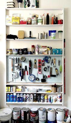 @sabine1490 organized her garage with @nationalhrdware |  DIY Garage Wall Storage