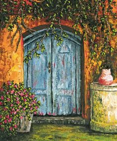 """""""The Blue Door"""" is one of my favorite paintings I did. I painted it while living on the Big Island of Hawaii."""