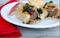 Bratwurst and Apple Kale Kraut Sandwiches by Elles New England Kitchen  More food blog favorites on FeedDaily: http://www.feeddaily.com/