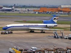 Malev in old colours at LHR in 1986 Airplane Photography, Hungary, Aviation, Aircraft, Colours, Retro, Airplanes, Commercial, Europe