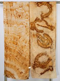 Rust dyeing fabric, article by Maggie Howe