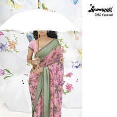 Vines of floral are spread all over the peach saree with chikan embroidered blouse piece feel- YOU ARE SPECIAL!