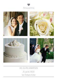 Takkekort Bryllup - PhotoBox