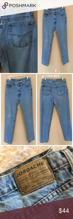 """JORDACHE Vintage Mom Jeans Vintage High-rise tapered jeans from one of the original mom jean-makers. Light/Medium wash. Tag says size 13/14. Please note that vintage runs small. Listed as a 31 because measurements are as follows. Please refer to your measurements. Waist (flat): 15.5, Rise: 11"""", Inseam: 32"""". Small mark as shown. ✨OFFERS WELCOME✨ Jordache Jeans Boot Cut"""