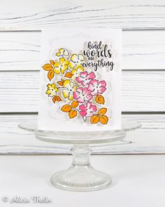 Kind Words are Everything Concord And 9th, Kindness Matters, Orange Leaf, Orange Background, Altenew, Kind Words, Greeting Cards Handmade, Cas, Cardmaking