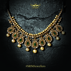 gold necklace bridal with hanging pendant string and gold beads, regal, royal, oxidised, antique gold