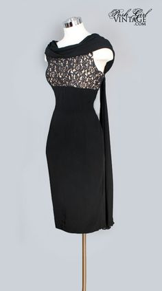 7de97873f1 Little Black Dress Lace   Silk Chiffon Falls.