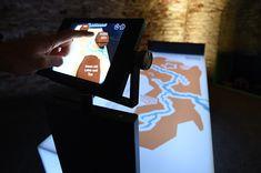"""Augmented Reality in der Ausstellung """"Im Grunde"""" in der Festung Dömitz. Konzipiert und realisiert von Impuls-Design."""