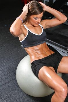 9. Do #Crunches Using an #Exercise Ball - 31 Ways to Get Great Abs if You Are a Girl ... → #Weightloss [ more at http://weightloss.allwomenstalk.com ]  #Sets #Single #Sculpted #Crunch #Tummy