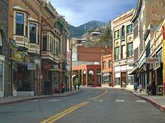 Bisbee, Arizona - old copper mine town has neighborhoods of Victorian and European-style homes perched miraculously on the hillsides.