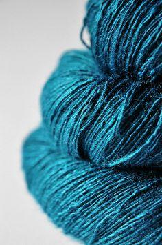 Ex  Peacock   Tussah Silk Lace Yarn by DyeForYarn on Etsy, €26.50