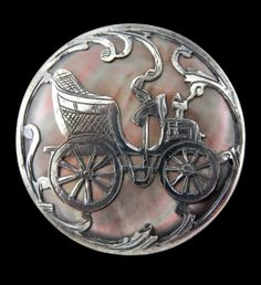 Very Large Late 19th C. Silver Overlay Pink Sheen Pearl in French Silver ~ R C Larner Buttons at eBay Etsy http://stores.ebay.com/RC-LARNER-BUTTONS and https://www.etsy.com/shop/rclarner