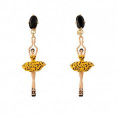 Find More Drop Earrings Information about 2016 New Les nereides high grade classic yellow ballet Women earrings jewelry,High Quality jewelry her,China earring packaging Suppliers, Cheap jewelry greek from Mak fashion jewelry store on Aliexpress.com