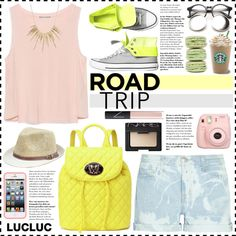 Look #470 (Road Trippin' in Style) (LUCLUC 3.12) by lookat on Polyvore featuring Zara, Current/Elliott, Love Moschino, Alexis Bittar, NARS Cosmetics, Converse, Summer, casual, roadtrip and lucluc