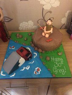 Novelty cake :-) lorry and fishing combo