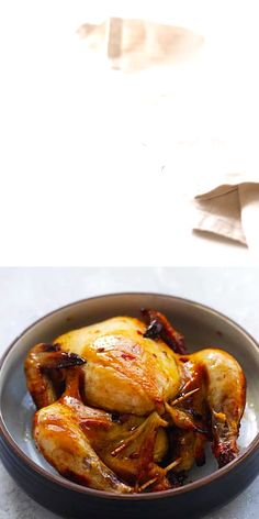 Tender, juicy and one of the best cornish hen recipes! Baked cornish hen in oven with marinade of garlic, honey & spices. This cornish game hen is so good. Roasted Cornish Hen, Cornish Hen Recipe, Cornish Hens, Duck Recipes, Turkey Recipes, Chicken Recipes, Food Network Recipes, Cooking Recipes, Healthy Recipes