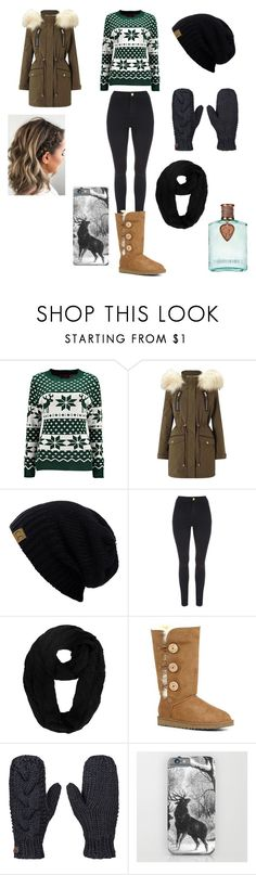"""""""Christmas Party"""" by shyanne-milburn ❤ liked on Polyvore featuring Miss Selfridge, UGG and Roxy"""