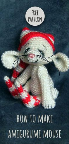 Mesmerizing Crochet an Amigurumi Rabbit Ideas. Lovely Crochet an Amigurumi Rabbit Ideas. Crochet Baby Hats Free Pattern, Crochet Mandala Pattern, Crochet Baby Beanie, Amigurumi Patterns, Amigurumi Doll, Knitting Patterns, Amigurumi Tutorial, Amigurumi For Beginners, Christmas Crochet Patterns