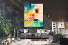 Large Modern Wall Art Painting,Large Abstract wall art,painting for home,abstract originals,abstract wall art paintings interior Artwork Above Bed, Above Bed Decor, Large Abstract Wall Art, Large Canvas Art, Abstract Paintings, Wall Paintings, Interior Design Colleges, Best Interior Design, Home Decor Wall Art