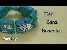 DIY: How to make a Fish cane bracelet - Polymer clay tutorial - YouTube