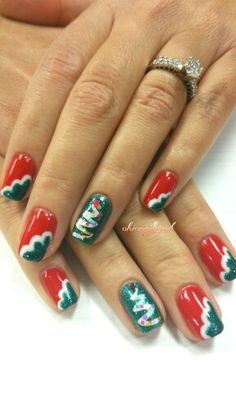 Cute #Christmas  #nail design
