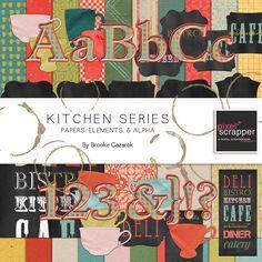 Kitchen Series Bundle by Brooke Gazarek   Pixel Scrapper digital scrapbooking