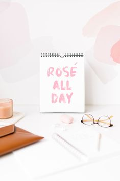 Rosé All Day Wall Art Printable for the Bedroom, Kitchen, or Living Room | Minimalist Wall Home Decor | Home Decor Print | Blushvadesign